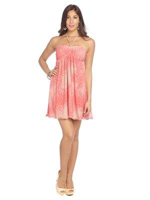 Сукня рожева з принтом | 2189089