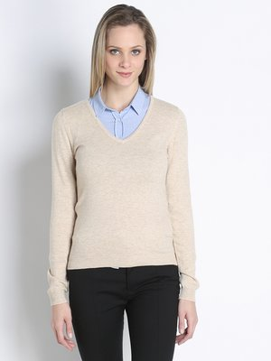 Пуловер бежевий | 2638022