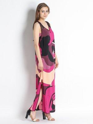 Сукня фіолетова в принт | 2492467