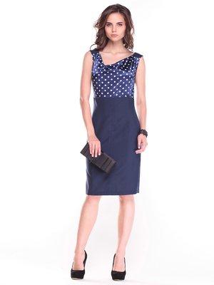 Платье темно-синее в белый горох | 2955988