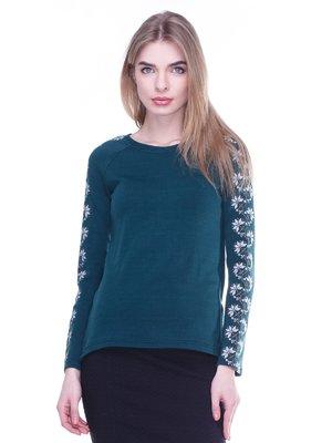 Джемпер зелений з вишивкою | 2875087