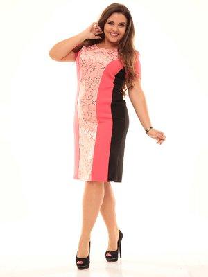 Платье трехцветное в принт | 2592976