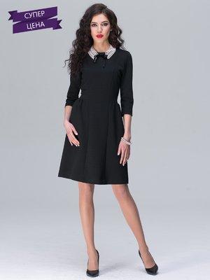 Платье черное в цветочный принт | 2161944