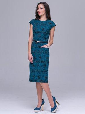 Платье бирюзовое в принт   3032250