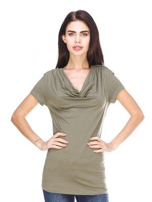 Блуза цвета хаки   3029893
