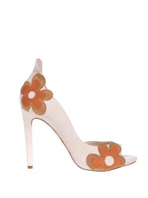 Туфлі біло-помаранчеві | 3042394