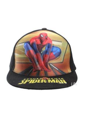 Бейсболка «Человек-паук» черная с принтом | 3046163