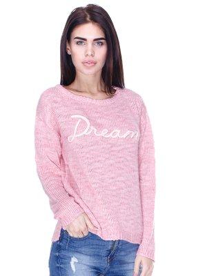 Джемпер розовый с надписью | 2991973
