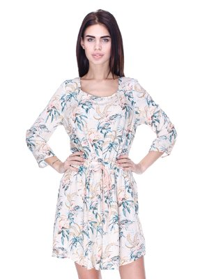 Сукня молочного кольору в принт | 2992432