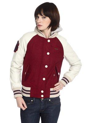 Куртка бордово-бежева | 2601410