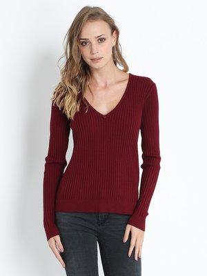 Пуловер бордовий | 2695803