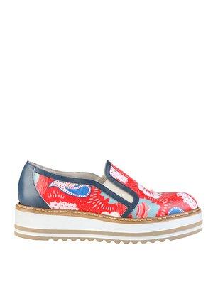 Туфли красно-синие с принтом | 2443907