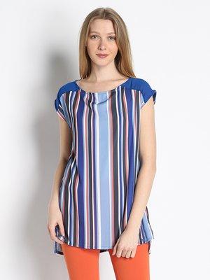 Блуза блакитна в смужку | 3067033
