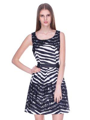 Платье черно-белое | 3054185