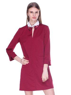 Платье бордово- белое | 3054175