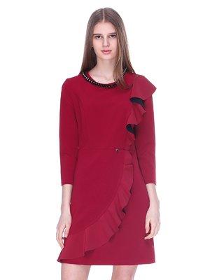Платье бордово-черное | 3054176
