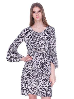 Платье бежево-черное | 3054171