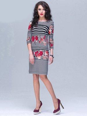 Платье в полоску и цветочный принт | 2174361