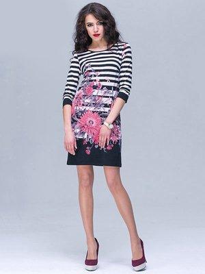 Платье в полоску и цветочный принт | 2191243