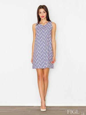Сукня синя в принт | 3075329