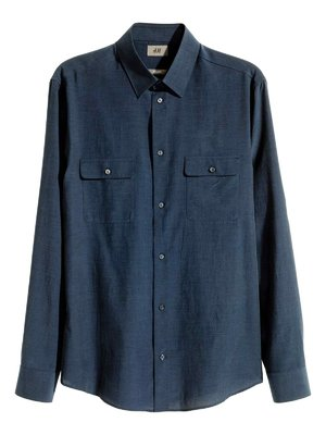 Рубашка темно-синяя | 3086781