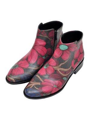 Ботинки в цветочный принт | 3081134