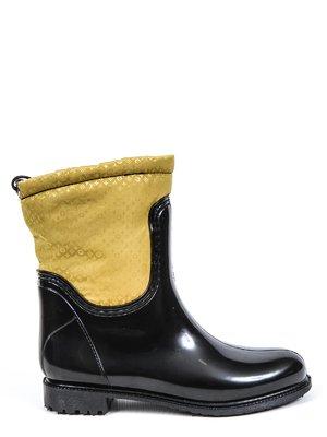 Сапоги черно-желтые | 3091332