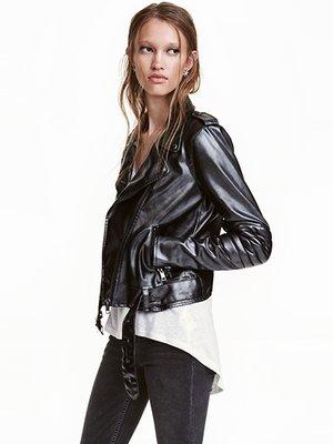 Куртка кольору чорний металік | 3095573