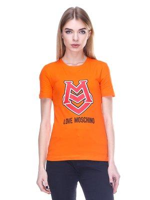 Футболка оранжевая с принтом | 2112569