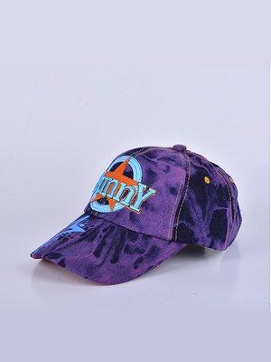 Бейсболка фіолетова з принтом | 3101707
