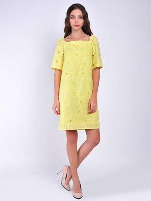 Сукня жовта з квітковим малюнком | 3100747