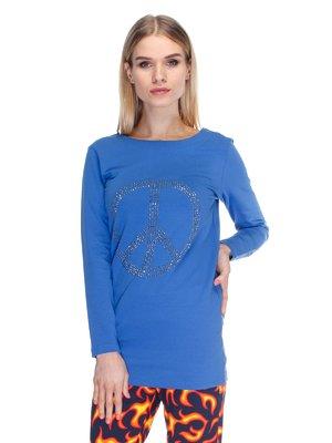 Туніка блакитна з декором | 1978086