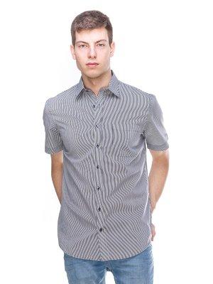 Рубашка серая в полоску | 3084330
