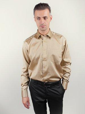Рубашка золотистая в полоску | 3108327