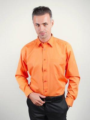 Рубашка оранжевая в полоску | 3108347