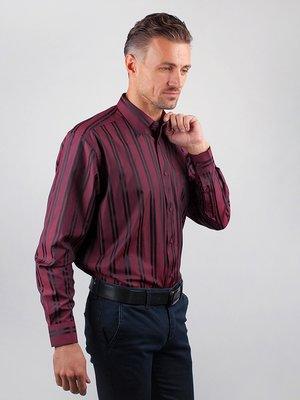 Рубашка бордовая в полоску | 3108363