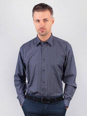 Рубашка серая в полоску | 3108380