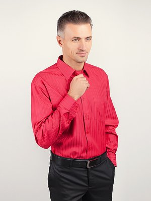 Рубашка коралловая в полоску | 3108388