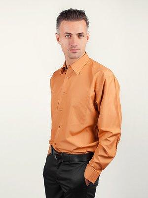 Рубашка терракотовая в полоску | 3108400