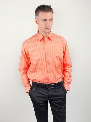 Рубашка оранжевая в полоску | 3108409