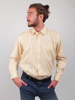 Сорочка молочного кольору в смужку | 3108412