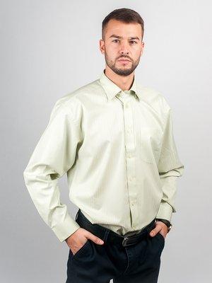 Рубашка светло-оливкового цвета в полоску | 3108415