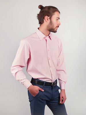 Рубашка светло-розовая в полоску | 3108421