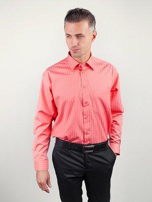 Рубашка коралловая в полоску | 3108427