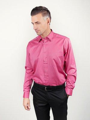 Рубашка темно-розовая в полоску | 3108431