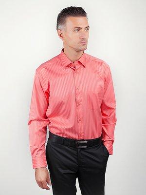 Рубашка коралловая в полоску | 3108432