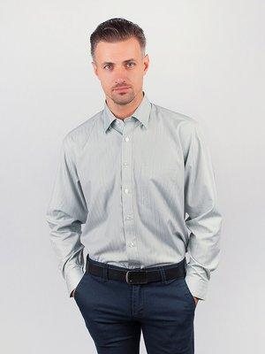 Рубашка серо-бежевая в полоску | 3108434
