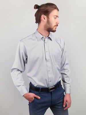 Рубашка серо-голубая в полоску | 3108438