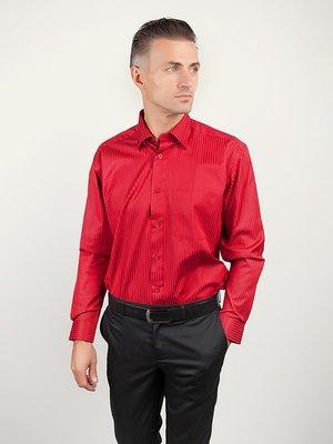 Рубашка красная в полоску | 3108456