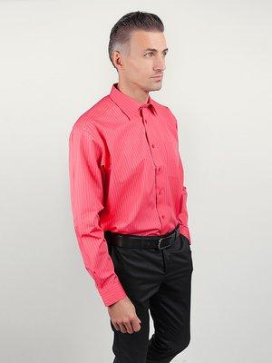 Рубашка коралловая в полоску | 3108463